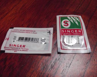 10 needles 70 / 9 sewing machines, SINGER, size 70 / 9