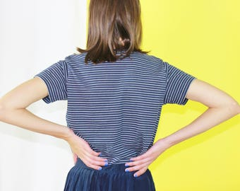 90s shirt striped t-shirt small grunge shirt
