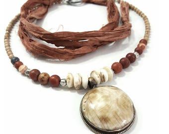 Turkish Antique Brass Beaded Necklace