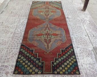 Vintge oushak runner rug, oushak rug.Rug Runner Turkish Antique Runner Rug Kichen Rug Runner Low pile Rug Anatolian Rug Carpet,Runner Rug