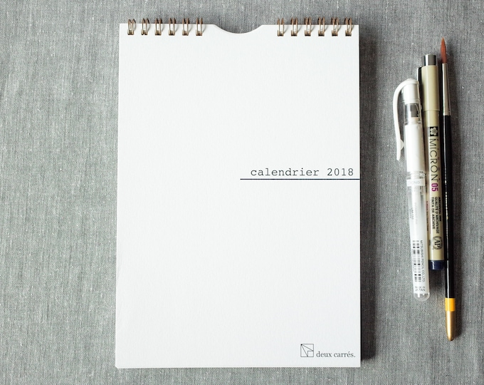 DIY : Customizable 2018 calendar in French, wire bound, for the creative persons of your life !