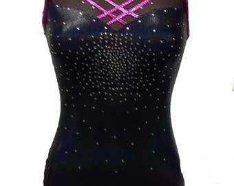 Midnight Magic Girls gymnastics/dance leotard