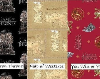 PRE-ORDER LIMITED - 2017 Springs Creative Release - Game of Thrones - 3 Fabrics to Choose From – 100% Cotton Woven