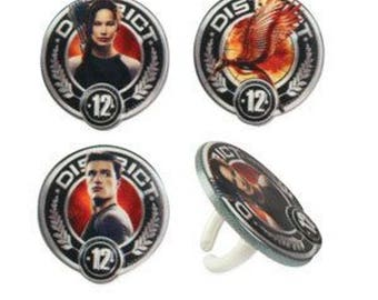 12 The Hunger Games District 12 Cupcake Rings Cake Decor Toppers