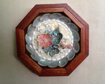 Sailors Valentine, Spring Garden, Sailors Valentine Shell Art, Shadow Box, Sailor Valentines, Sailors Valentines Box, Shell Flowers, Shells