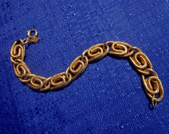 Sarah Coventry Bracelet, Gold Chain Bracelet,Byzantine Bracelet