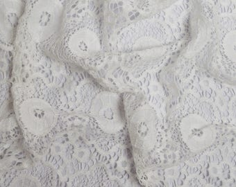 Fabric white stretch lace (in multiples of 20cm)