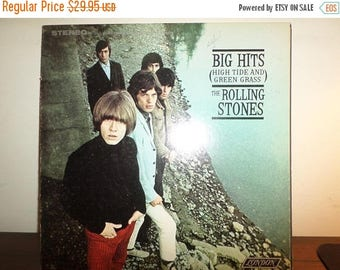 Save 30% Today Vintage 1966 Vinyl LP Record The Rolling Stones Big Hits High Tide and Green Grass Stereo Excellent 11340