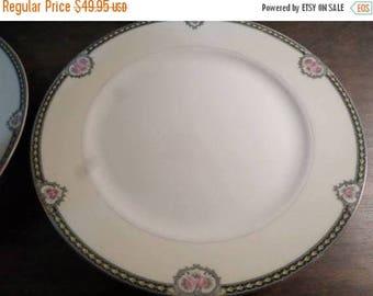 Save 25% Now Set of Four Vintage 1920's Noritake M China Kenosha Pattern 9 3/4 Inch Dinner Plates Pristine Condition