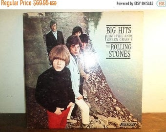 Save 30% Today Vintage 1966 Vinyl LP Record The Rolling Stones Big Hits High Tide and Green Grass Stereo Version NEAR MINT Condition 10459