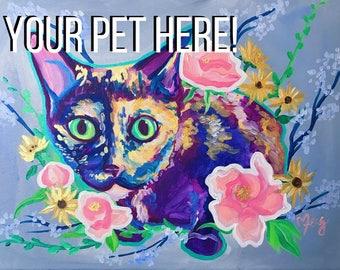 Custom Pet Painting, Custom Dog Portrait, Custom Dog Painting, Custom Pet Portrait, Gift for Dog Lover