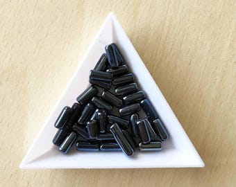 small Pearl / dark chocolate tube. 10 mm
