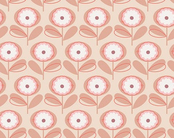 Registry Item for Shawna Taylor - Changing Cover - Playful Petals in Melon - by Art Gallery Fabrics