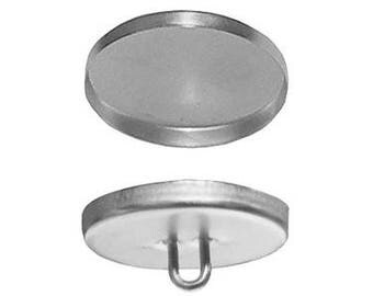 "12osborne Button-wire Eyes W/aluminum Shells  #44, Size 22 9/16"" Dia(77030)"