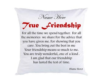 Personalised Friendship Cushion