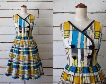 modern times dress  //  vintage 1950s cotton dress