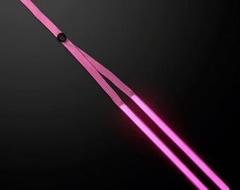 Light Up Pink Suspenders