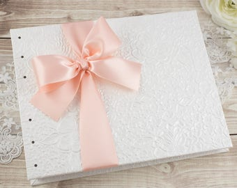 Wedding Album, Wedding Photo Album, Wedding Photo Book, White Photo Album, Instant Photo, Guest Book, Blank Pages, MADE TO ORDER