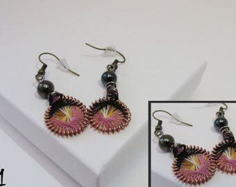 Handmade Peruvian-Styled Thread Earrings