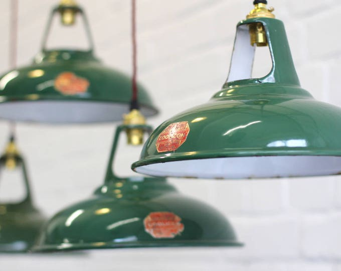 Industrial Substation Pendant Lights By Coolicon Circa 1950s