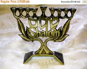 SALE Menorah Hanukkah,chanukah,jewish holiday hanukkah,jerusalem,shalom peace,holy-land menorah,jewish tradition,hanukia judaica