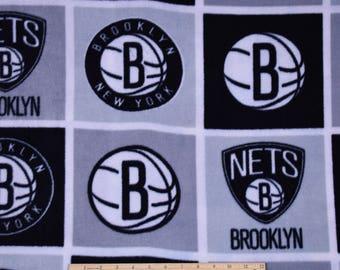 New York Brooklyn Nets Fabric FLEECE NBA Basketball Fabric
