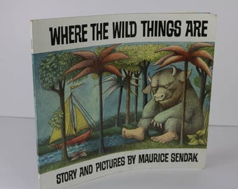 where the wild things are 1991 paperback book childrens kids maurice sendak