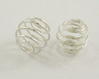 X 10 spiral cage silver 10mm