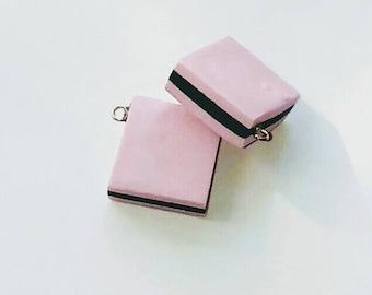 X 1 English candy pink/black 18mm