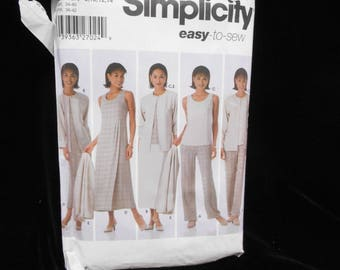 Misses Pants Skirt Simplicity 5345 Womens Size 8 10 12 14 Top Dress Jumper Jacket Sewing Pattern