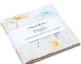 "Fragile - Zen Chic - Brigitte Heitland - Moda - Charm Pack - 5"" Squares - 1630PP"