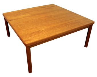 Mid-Century Coffee Table Danish Modern Square Teak Table