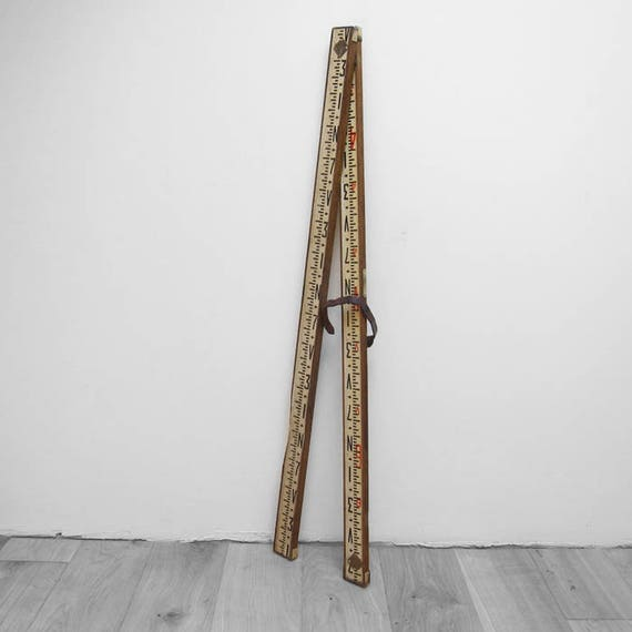 1920s Theodolite Telescopic Surveyors Staff Measure Large Long Ruler Tape - Great Display
