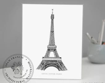 Eiffel Tower | Paris | ART PRINTS. Highly Detailed, Fine Art and Photo prints. A great, unique and romantic gift for Paris lovers