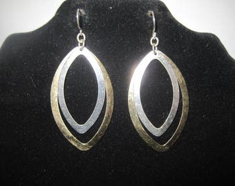 Two Tone Dangle Earrings