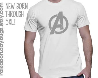 Avengers Symbol T-shirt - More Color Options - New Born through 5XL Available