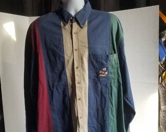 Mickey Mouse Multicolored  Dress Shirt