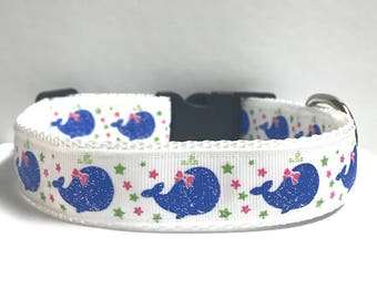 """1"""" Whale in a bow collar"""