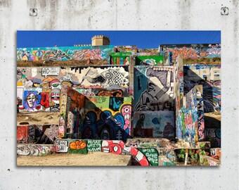 Graffiti Park - City, Art, Colorful, Photography - Austin, TX - Fine Art Print - Canvas Gallery Wrap - Metal Print