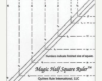 Summer Sale- Quilter's Ruler Magic Half Square Ruler -  Fast Shipping  TR165
