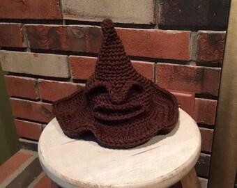 Handmade crocheted sorting hat Harry Potter hat