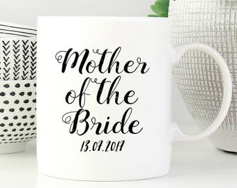 Mother Of The Bride Mug, Gift From Groom, Mother In Law Gift, Mother Of Bride Gift, Gift From Bride, Parents Of The Bride, Wedding Mug
