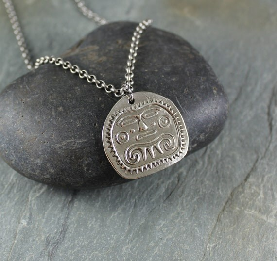 Sun God pendant necklace ~ Artisan Handcrafted