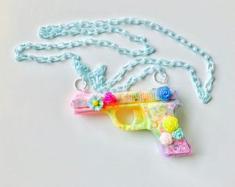 Resin Large Gun Pastel Kawaii Necklace