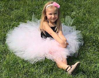 Christmas Dress- Holiday Dress- Flower girl dress - Tulle flower girl dress - Tulle dress-Infant/Toddler - Pageant dress - Princess dress -
