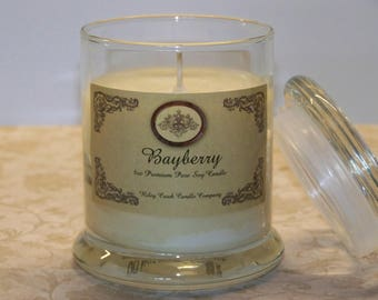 Bayberry Premium Holiday Scent Pure Soy Candle 8oz