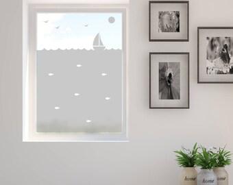 Frosted Window Film, Little Boat, Bathroom Windows, Vinyl for Windows, Decals, Window Film