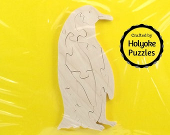 Penguin Wood Puzzle - Color Your Own Craft Puzzle - Kids Craft Project