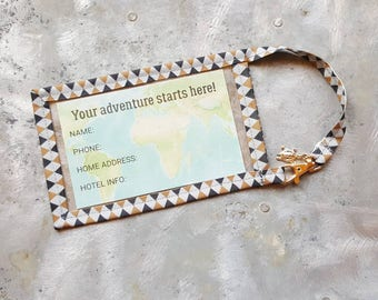 "Travel Luggage Tag - 3"" x 5"" - Luggage Tag - Includes Information Insert"