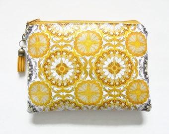 Zesty, retro feel, waterproof pouch, girlfriend gift, wipe clean wallet.